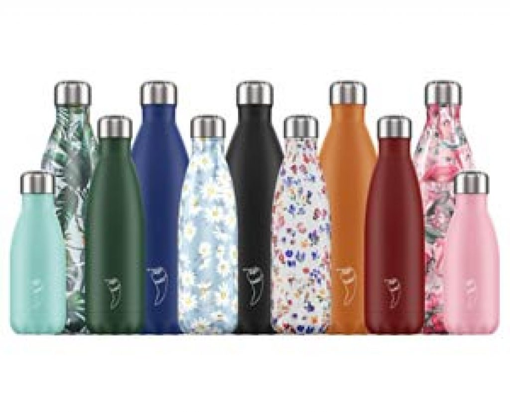 Gourdes isothermes Chilly's Bottle - Thermos 100% étanches - Disponible dans 3 contenances et plus de 30 décors et coloris.