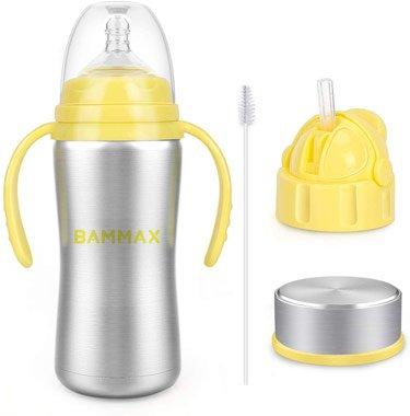 Biberon d'apprentissage bouteille isotherme en inox pour bébés