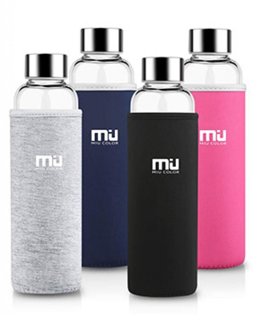 Gourde eau en verre Miu Color : Pour profiter pleinement des saveurs de vos boissons.