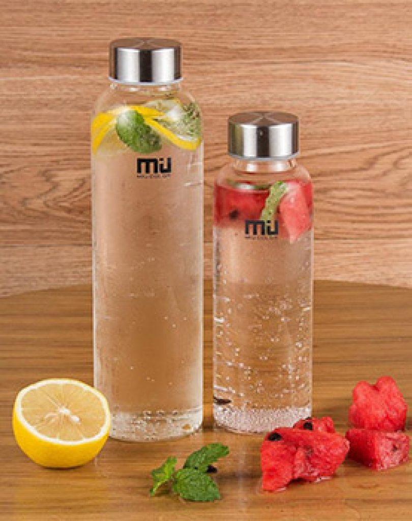 Gourde eau potable Miu Color 550ml : la bouteille eau en verre pour boire sainement au quotidien