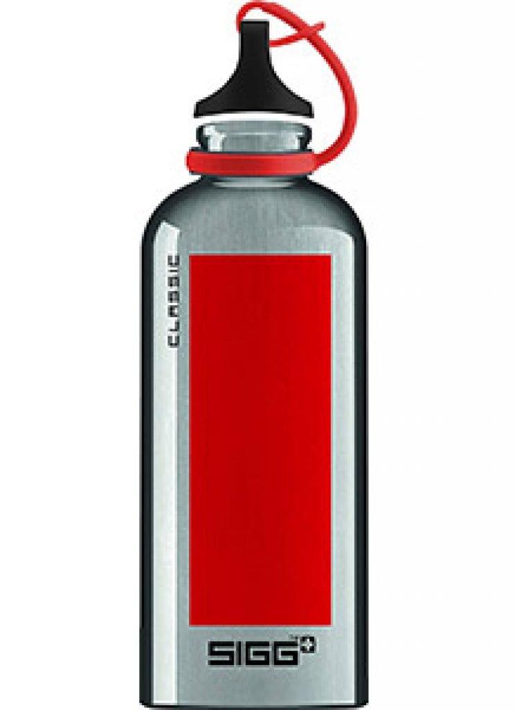 Gourde Sigg Classic Accent - Aluminium rouge - 0.6L