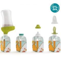 Kit de démarrage 10 gourdes pour bébé réutilisables Babymoov Foodi