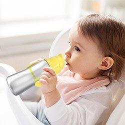 biberon d'apprentissage en inox pour bébés