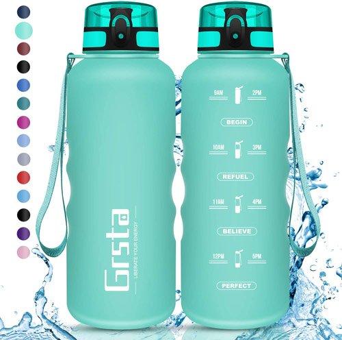 bouteille d'eau sport pas chère en plastique gourde grsta