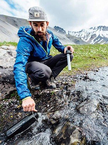 gourde pour filtrer l'eau en randonnée