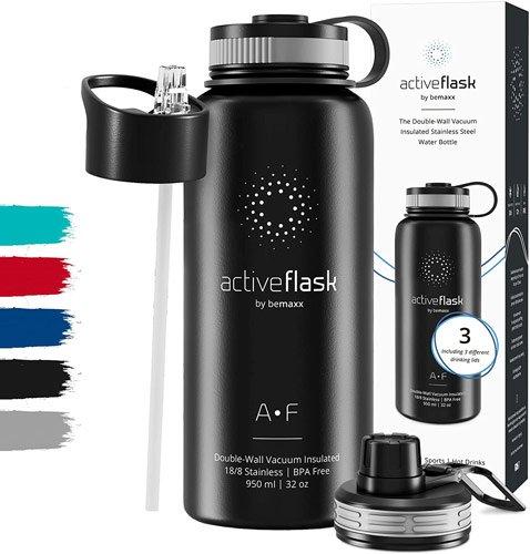 Gourde en acier inoxydable avec bouchon sport Active Flask