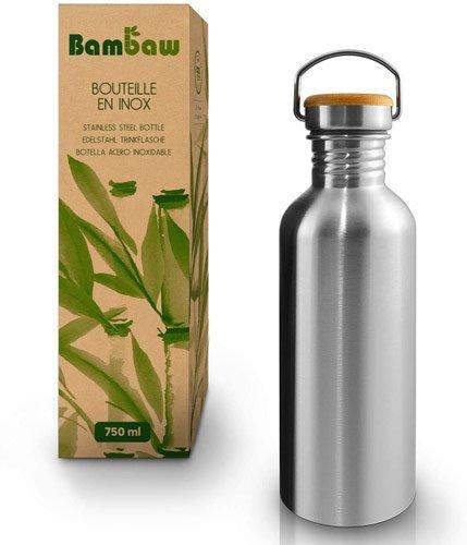 gourde inox design et écologique bouchon bambou
