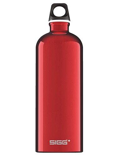 Bouteille Sigg Traveller 1l rouge en aluminium