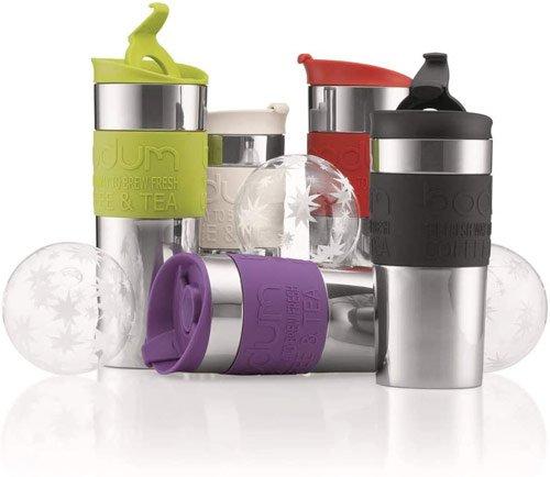 mug isotherme bodum double paroi pour thé ou café, chaud ou froid