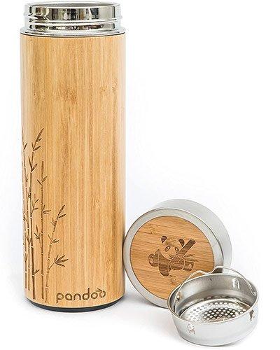 mug isotherme écologique inox et bambou avec infuseur thé