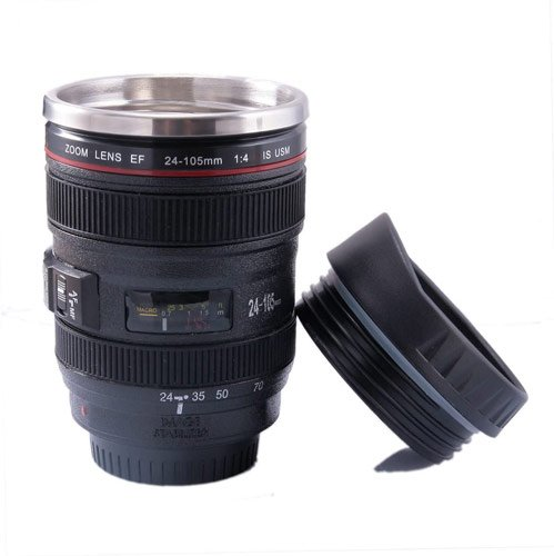 mug isotherme à café original objectif photo